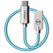 MCDODO CA-288 Knight Seires Type-C USB Data Sync Charging Cord for Samsung Huawei - Blue