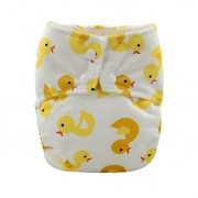 Tinytots Bamboo All In One Reusable Washable One Size Cloth Diaper - Ducks