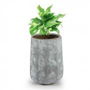 Decaflor Vaso 55 x 70 x 55 cm Vetroresina Esterno/Interno Grigio Chiaro