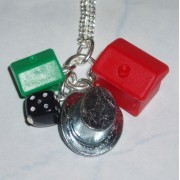 Monopoly Hat Pendant Hotel House Black Dice