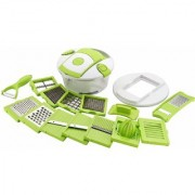 Nucleya Retail 15 in 1 Fruit and Vegetable Cutter - Chopper Grater Slicer Peeler (Set of 1)