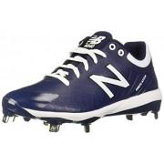 New Balance Men's 4040v5 Metal Low-Cut Baseball Cleat, Navy/White, 6.5 W US