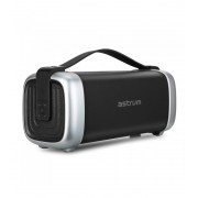 Astrum ST370 fekete hordozható bluetooth hangszóró FM rádióval, micro SD olvasóval, karpánttal, AUX, USB, EQ, 25W