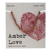 Baltic Amber Children's Necklace - Cognac Love 33cm