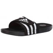 Adidas Adissage Slide para Mujer, Negro/Blanco/Negro, 7 US