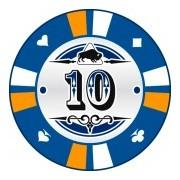 Kerámia póker zseton 10