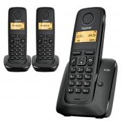 Siemens Téléphone sans fils dect gigaset a120 trio noir