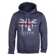 Herren Hoodie Queen - Vintage Union Jack - ROCK OFF - QUHD02MN