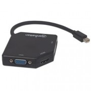 Manhattan Adattatore Mini DisplayPort 3-in-1 4K HDMI DVI VGA