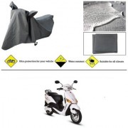 Ronish 100 Waterproof Heavy Quality Bike Body Cover for Standard Size Grey for Hero Electric Optima
