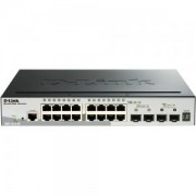 D-Link 20-Port Gigabit Stackable SmartPro Switch including 2 SFP ports and 2 x 10G SFP+ port - DGS-1510-20