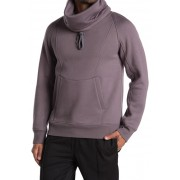 Helmut Lang Brushed French Terry Cowl Neck Hoodie RABBIT