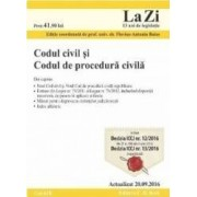 Codul civil si Codul de procedura civila act. 20.09.2016