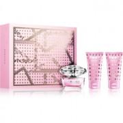 Versace Bright Crystal coffret XXIV. Eau de Toilette 50 ml + gel de duche 50 ml + leite corporal 50 ml