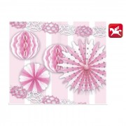 Pegaso set decorazioni 6 pezzi rosa