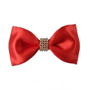 Classique Pre Tied Designer Red Satin Wedding & Party Tuxedo Bow Tie