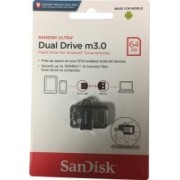SanDisk Ultra Dual Drive m3.0 64 GB OTG Drive(Silver, Grey, Type A to Micro USB)
