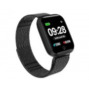 """Innjoo Reloj innjoo sport watch negro metalico cuadrado/ 1.33""""/ 512kb rom/ 64kb ram/ bluetooth 4.0"""