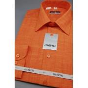 Pánská košile s dlouhý rukáv 6146-Pomerančová 564-6146-40/182