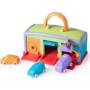 Jucarie garajul meu Miniland, 3 masinute, 3 chei