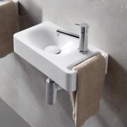 Scarabeo Hung Hängewaschbecken schwarz matt mit BIO System 50 cm