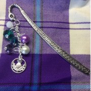 Scottish Thistle Bookmark Charm Crystal Beads Book Readers Scottish