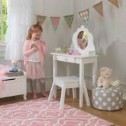 Masuta de toaleta si scaun Medium Vanity & Stool White - Kidkraft