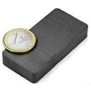 Magnet ferita bloc, 60x30x10 mm, putere 4,1 kg