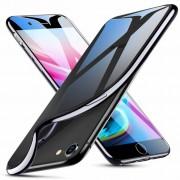 ESR iPhone 7 Plus hoesje ultradun galvanische zwarte zijkant zacht TPU