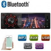 Radio MP3 Player Auto 1DIN cu Display Telecomanda USB Card SD Bluetooth Microfon Incorporat Putere 4x45W