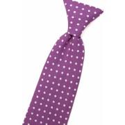 Chlapecká kravata fialová s bílými puntíky Avantgard 558-5044