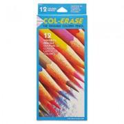 Col-Erase Pencil W/eraser, 12 Assorted Colors/set