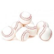 Baseball Sports Themed 2.5-Inch Foam Squeeze Balls for Stress Relief, Relaxable Realistic Baseball Sport Balls - Bulk 1 Dozen