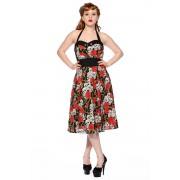 vestito donna BANNAndD - Skull And Roses - Nero/Rosso - DBN578RAndD