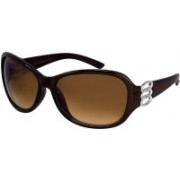 jazz style Cat-eye, Over-sized Sunglasses(Brown)