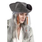 Peruca Ghost Pirate cu Palarie