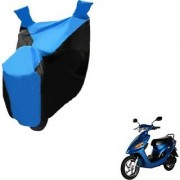Intenzo Premium Blue and Black Two Wheeler Cover for Yo Bike Yo EXL