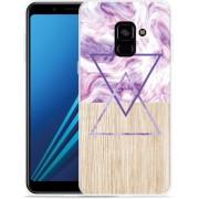 Samsung Galaxy A8 Plus 2018 Hoesje Color Paint Wood Art