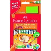 Creioane colorate 12 culori + ascutitoare Eco Jumbo Faber-Castell