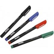 Hama 7451195 Pennarelli Per Cd / Dvd Ad Inchiostro Permanente 4 Pennarelli Colore Nero / Blu / Rosso / Verde - 7451195
