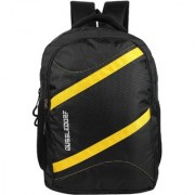 The Blue Pink Polyester 18 Ltr Black-Yellow Laptop Backpack (DUSS-VI-19)
