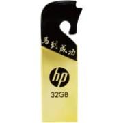HP v219g 32 GB Pen Drive(Black & Gold)