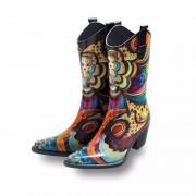 Geen Festival cowboy laarzen bloemenprint 38