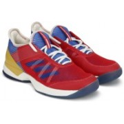 ADIDAS ADIZERO UBERSONIC 3 W PW Tennis Shoes For Women(Red, Blue, Gold)