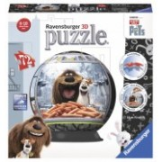 Ravensburger puzzle 3d viata secreta a animalelor, 72 piese