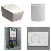 Sphinx 420 toiletset Rimfree met Geberit UP320 reservoir/bedieningsplaat glans-wit