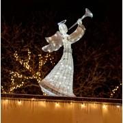 decoLED înger luminos 122cm, rece alb, efect FLASH