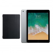 "Apple iPad 9.7"" (2018) 128GB Wifi with Folding Case (Black) - Space Gray (with 1 year official Apple Warranty)"