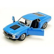 Motor Max 1970 Ford Mustang Boss 429, Blue - Motormax 73303 1/24 Scale Diecast Model Toy Car