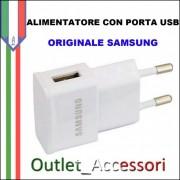 Alimentatore Presa di Corrente USB Originale Samsung 1A ETA-0U81EWE BIANCO